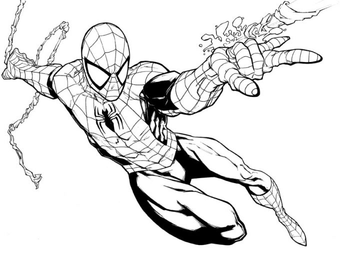 700x510 Spider Man Coloring Pages Easy Spiderman For Kids Pics Delux
