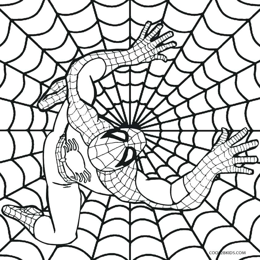 842x841 spiderman coloring pages online free 2 most interesting comics - Spiderman Coloring Pages Online Free