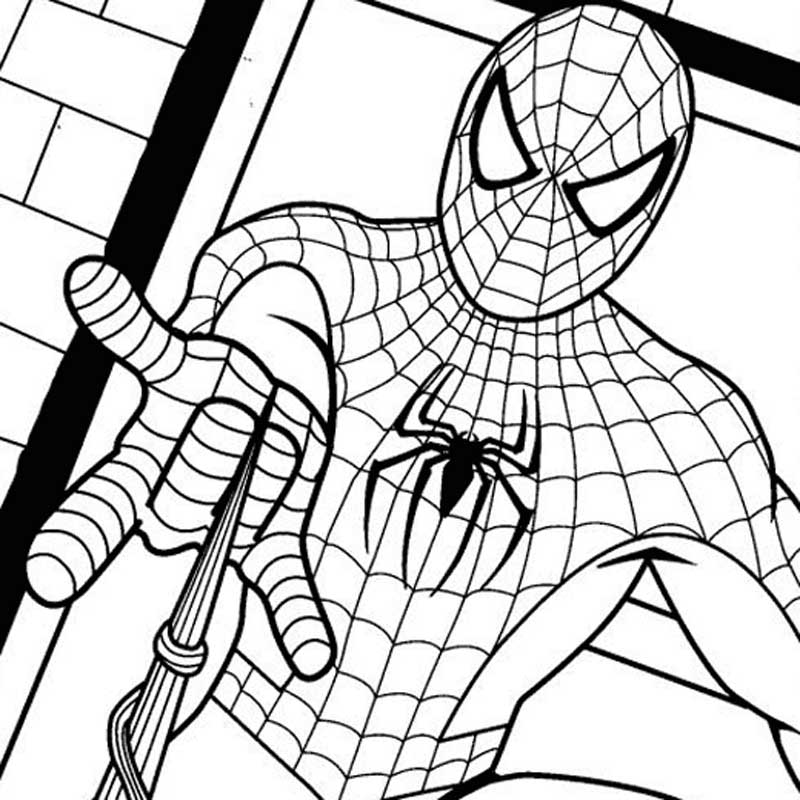 spiderman coloring pages free download best spiderman coloring