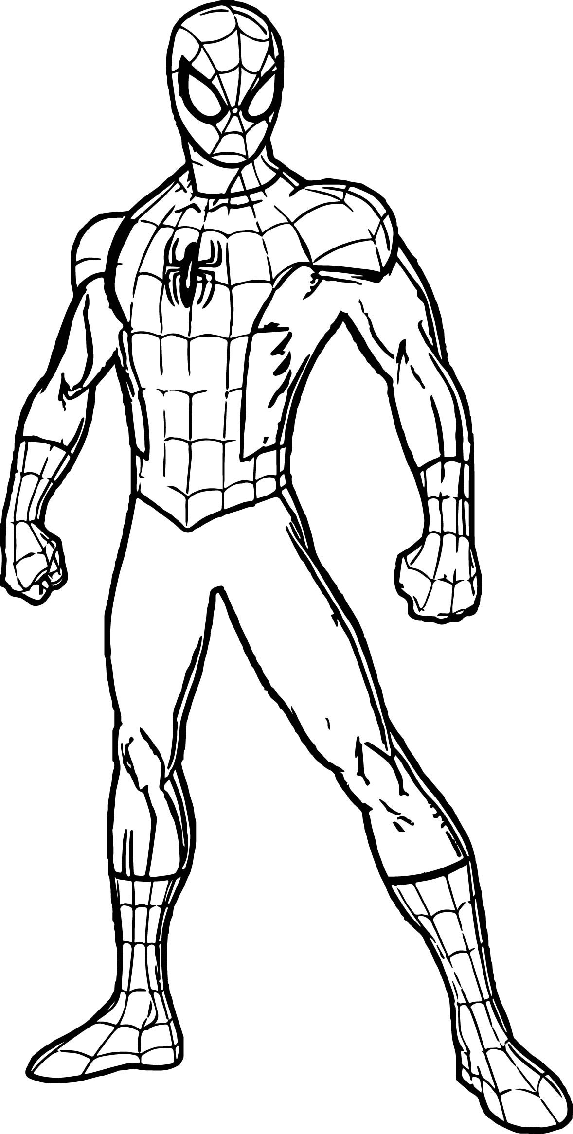 1178x2332 Spidey Spider Man Coloring Page Wecoloringpage