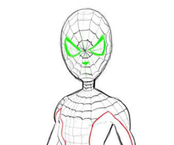 600x500 Drawn Spiderman Easy