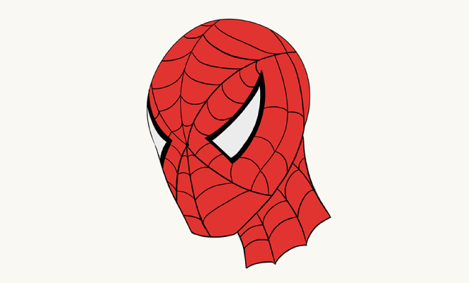662x400 How To Draw Spiderman's Face Easy Drawing Guides