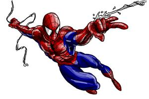 300x200 How To Draw Spiderman