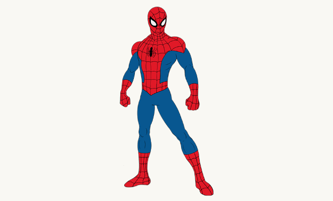 662x400 How To Draw Spiderman Easy Drawing Guides