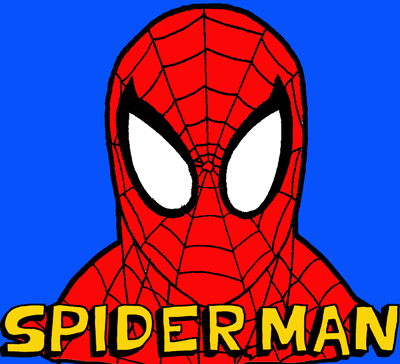 400x364 How To Draw Spiderman With Easy Step By Step Drawing Lesson