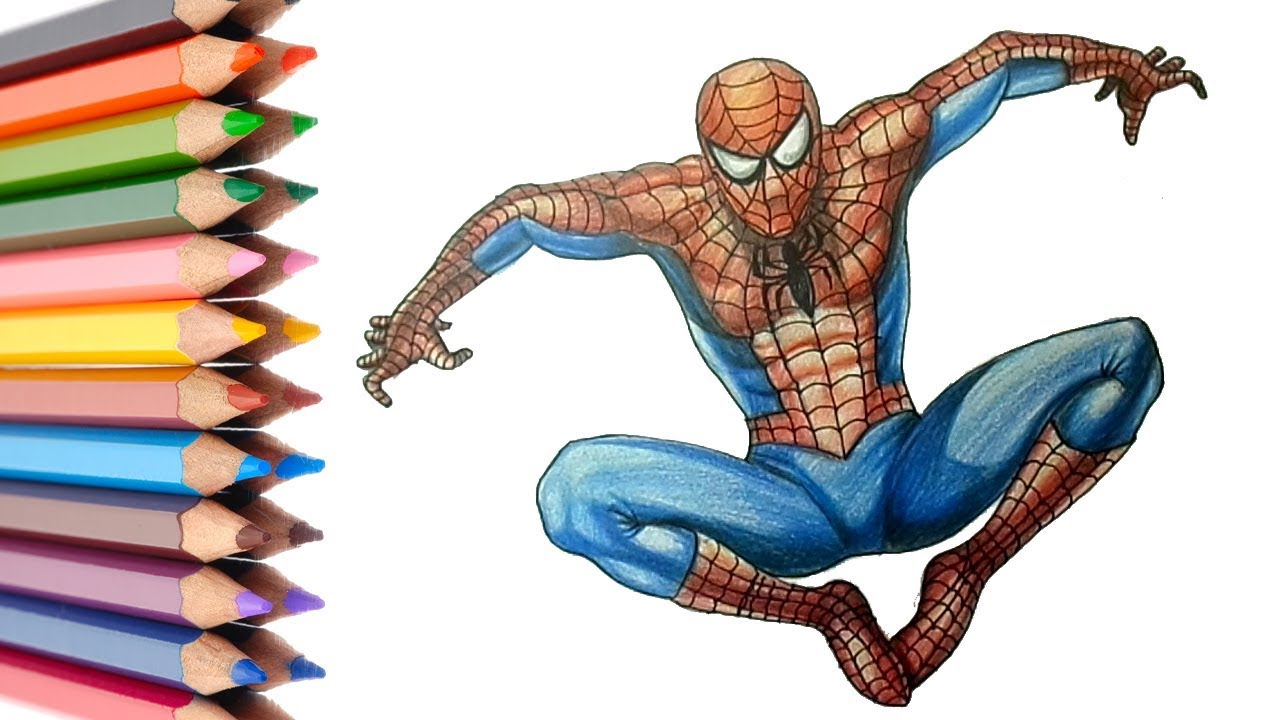 1280x720 How To Draw A Spiderman Easy