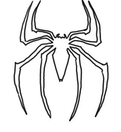 400x436 How To Draw A Spiderman Logo (With Pictures) Ehow