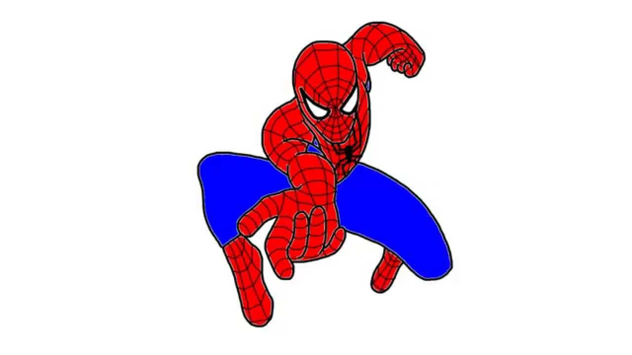 1280x720 Spiderman Cartoon Drawing How To Draw Spiderman From Spider Man