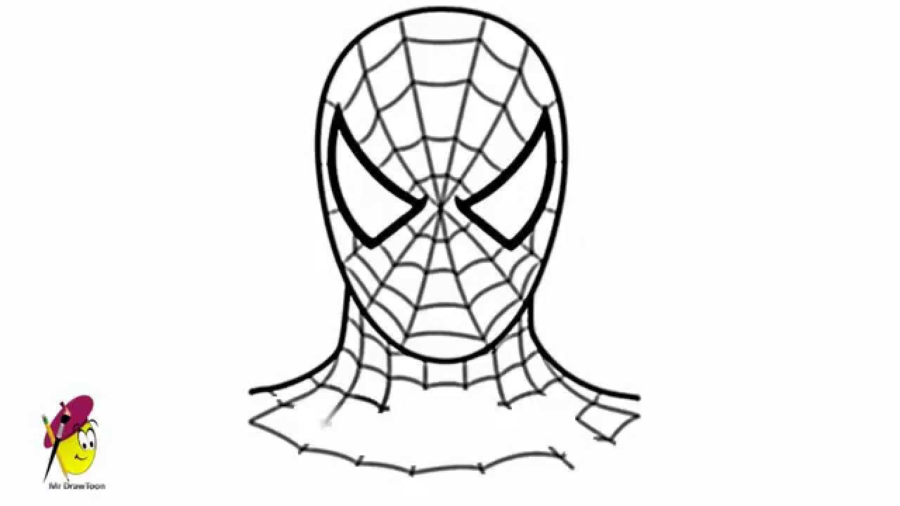 1280x720 Spiderman Face Pencil Drawing How To Draw Spider Man In Fine Art