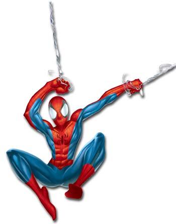 350x444 Spiderman Cartoon Clipart