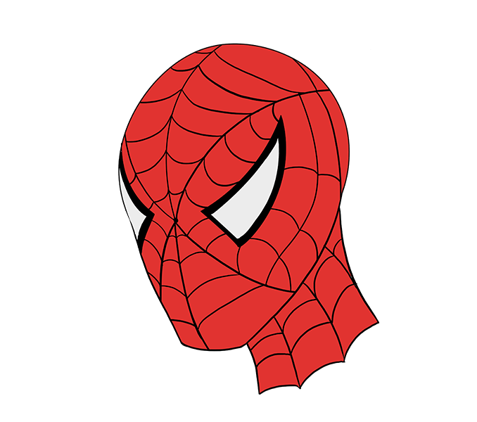 678x600 How To Draw Spiderman's Face Easy Drawing Guides
