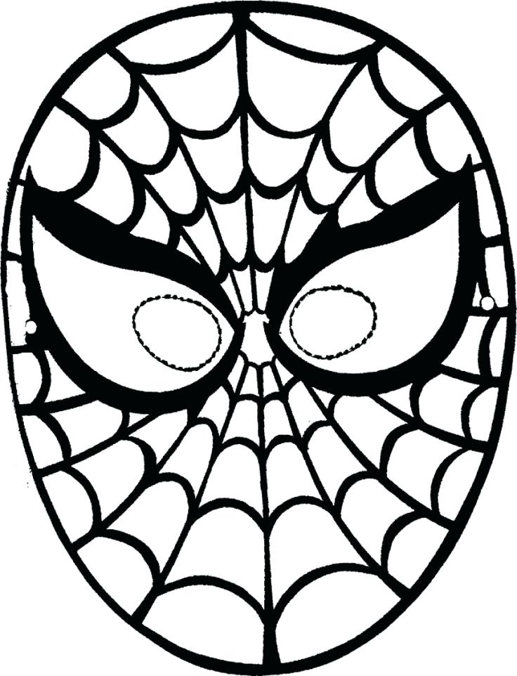 736x962 Printable Spiderman Mask Spider Man Coloring Pages Spider Man