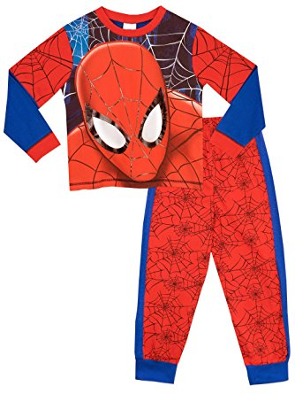 334x445 Spider Man Boys Spiderman Pyjamas Full Face Ages 2 To 10 Years