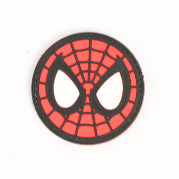 591x591 Spiderman Face Hook And Loop Badge