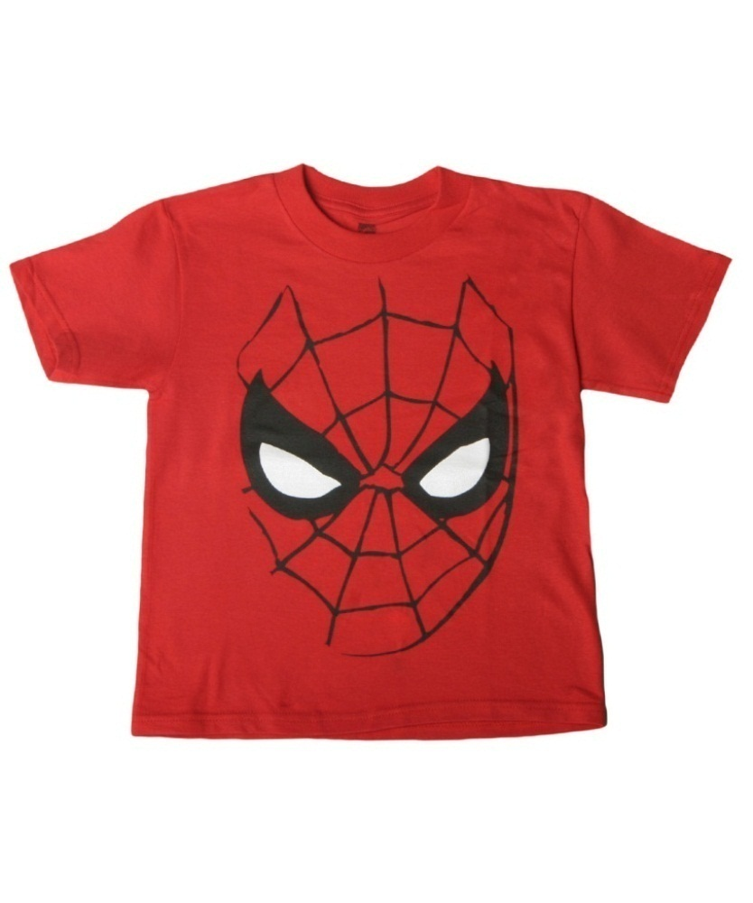 834x1000 Boys Face Spiderman T Shirt