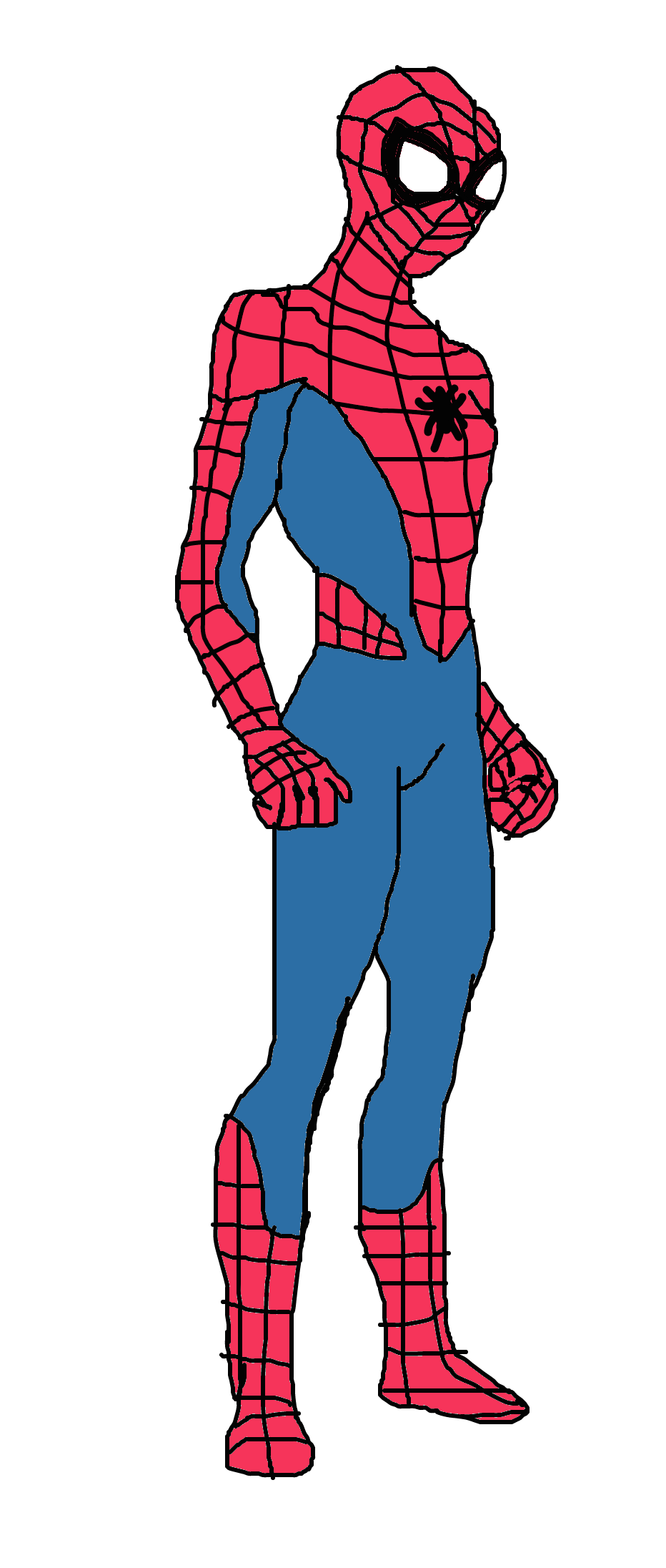 932x2192 New Marvel's Spider Man Vector By Alvaxerox