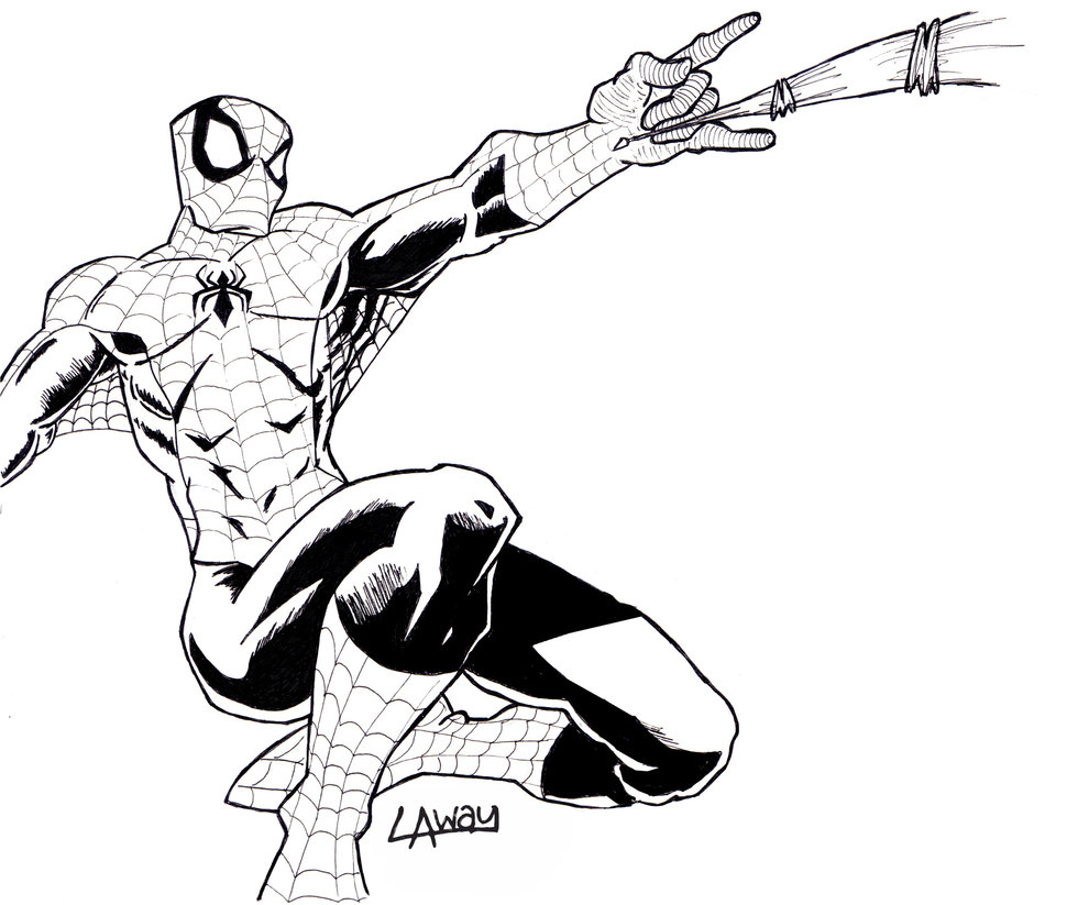 970x823 Ol' Spiderman Lineart By Angelcrusher