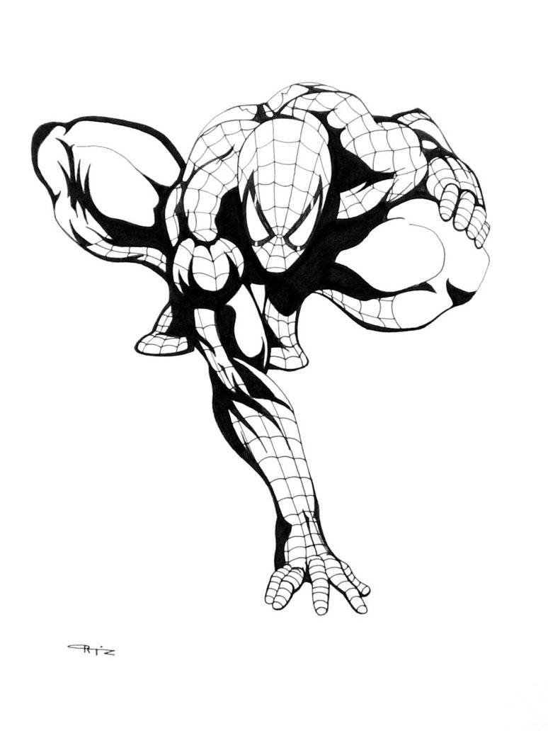 774x1032 Spider Man Crouched By Eso2001