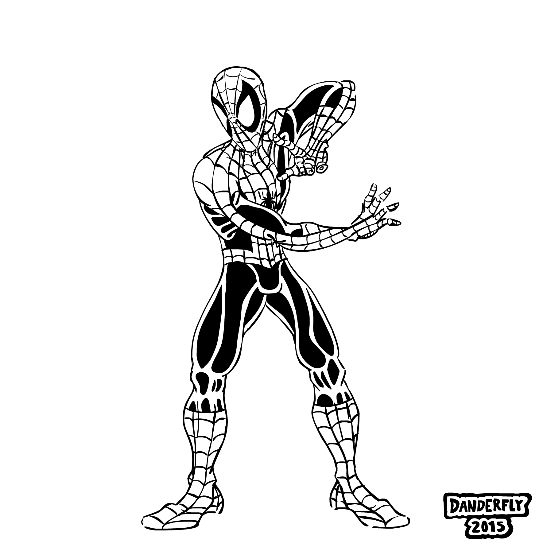1808x1808 Spider Man Stance Inks By Danderfly