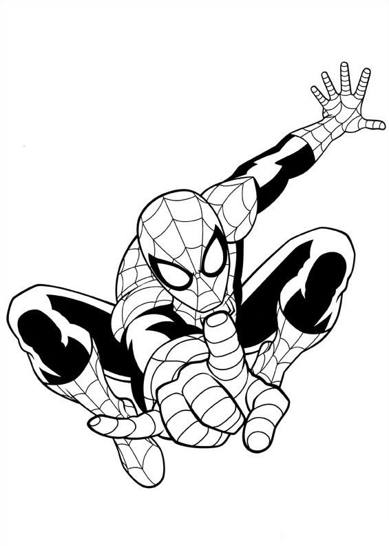 565x792 Spider Man Clipart Coloring Page