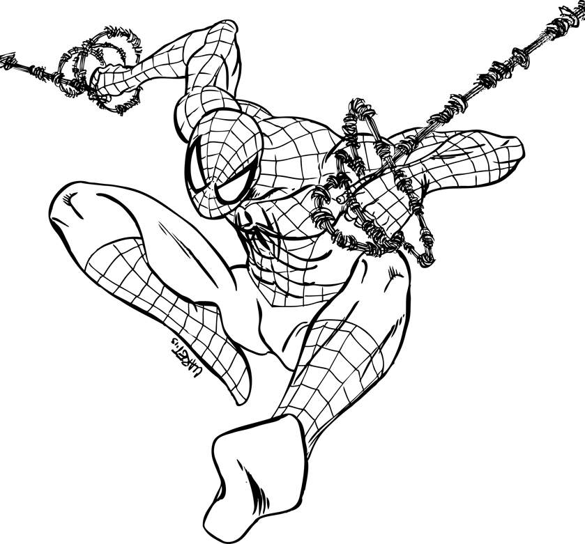 839x781 Spider Man Lineart By Claret821021