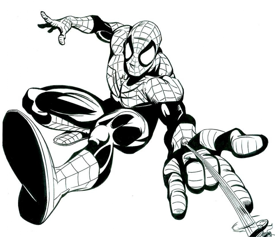 927x800 Spiderman Swings, In Jerry Decaire's Silver Surfer Comic Art