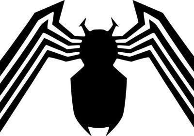 400x281 Spiderman Venom Logo Die Cut Vinyl Sticker Decal Blasted Rat