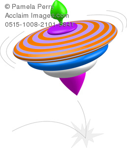 258x300 Art Image Of A Spinning 3d Toy Top