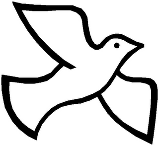 320x294 Spirit Dove Clip Art