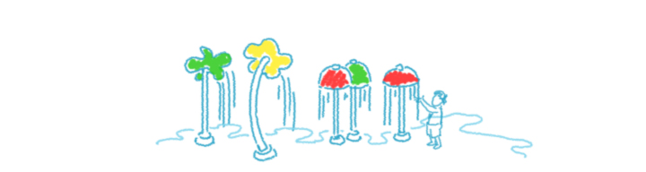 720x192 Sream Clipart Splash Pad