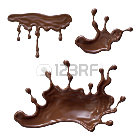 450x450 3d Render, Chocolate Splash, Abstract Liquid Splashing Set, Clip