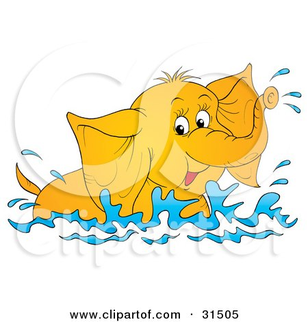 450x470 Elephant Splashing Water Clipart Amp Elephant Splashing Water Clip