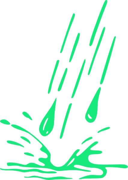 426x598 Green Splashing Rain Clip Art