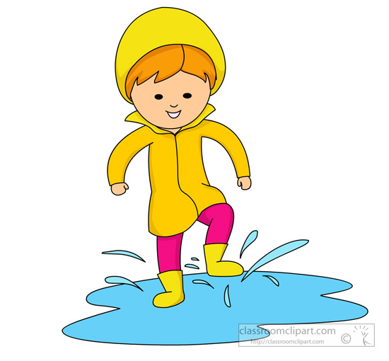 550x510 Rain Clipart Puddle Splash
