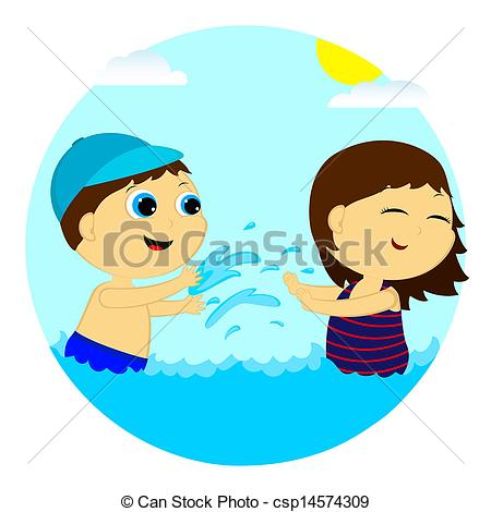 450x470 Splashing Clipart