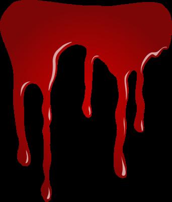 342x400 Zombie Blood Splatter Clipart