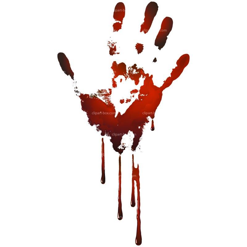 800x800 Blood Splatter Hand Clipart