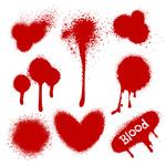 150x150 Blood Splatter Background Royalty Free Vector Clip Art Image