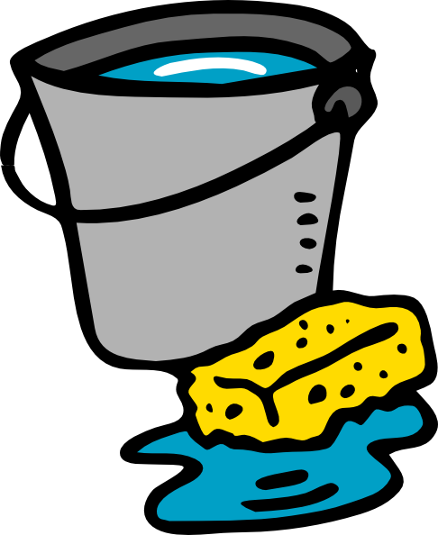 486x594 Cleaning Bucket Sponge Water Clip Art