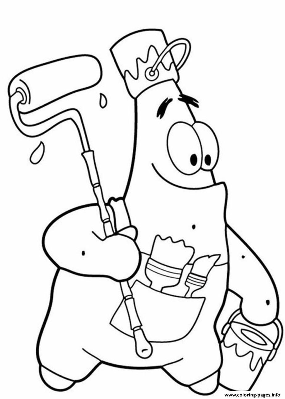 924x1291 Modern Decoration Patrick Coloring Pages Funny Star S Spongebob