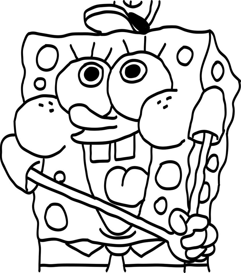840x952 Perfect Baby Spongebob Coloring Pages 47 For Line Drawings With