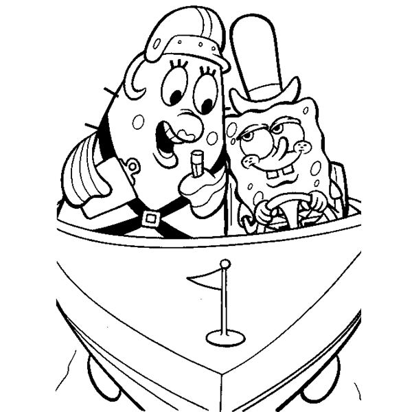 600x600 Spongebob Coloring Sheets For Free Download