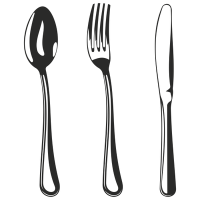 400x400 Crossed Fork And Spoon Clip Art, Vector Crossed Fork And Spoon