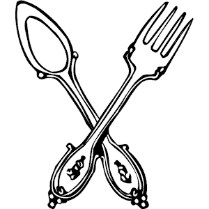 300x300 Spoon Amp Fork Clipart, Cliparts Of Spoon Amp Fork Free Download (Wmf
