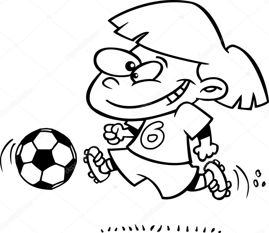 1023x887 Sports Clip Art Of A Black And White Boy Kicking A Soccer Ball