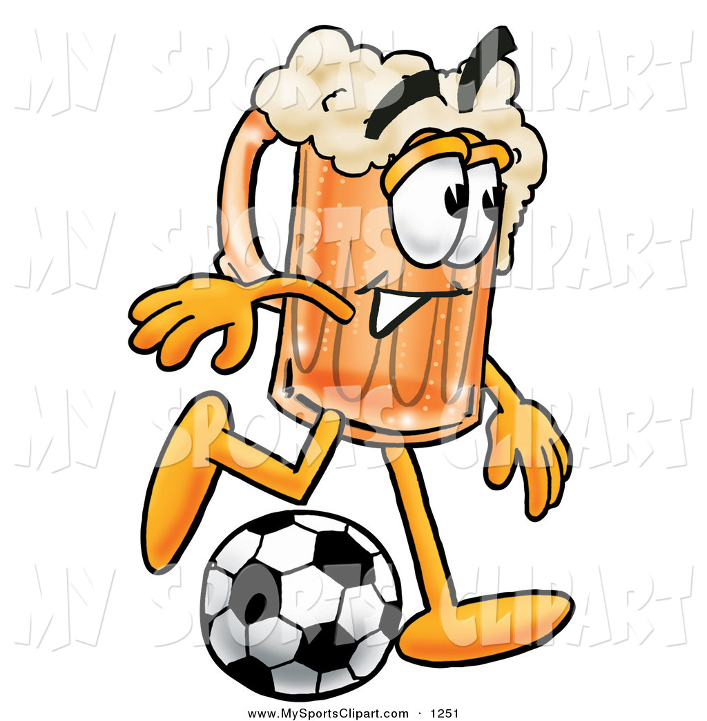 1024x1044 Sports Clip Art Of A Sporty Foaming Beer Mug Mascot Cartoon