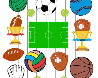 340x270 Sports Balls Clipart Etsy