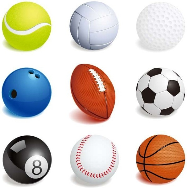 595x600 Vector Illustration Of Sport Balls Free Vector In Encapsulated