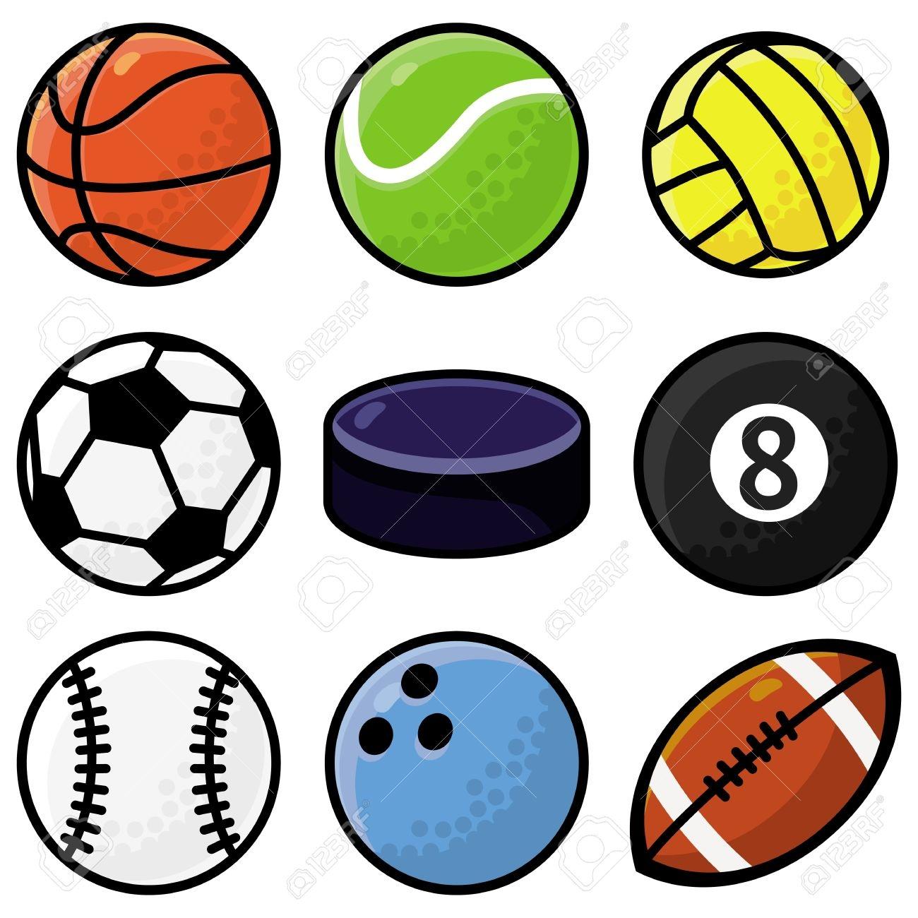 1300x1300 Cartoon Sports Balls Clipart