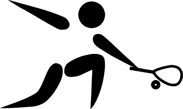 600x358 Olympic Sports Squash Pictogram Clip Art